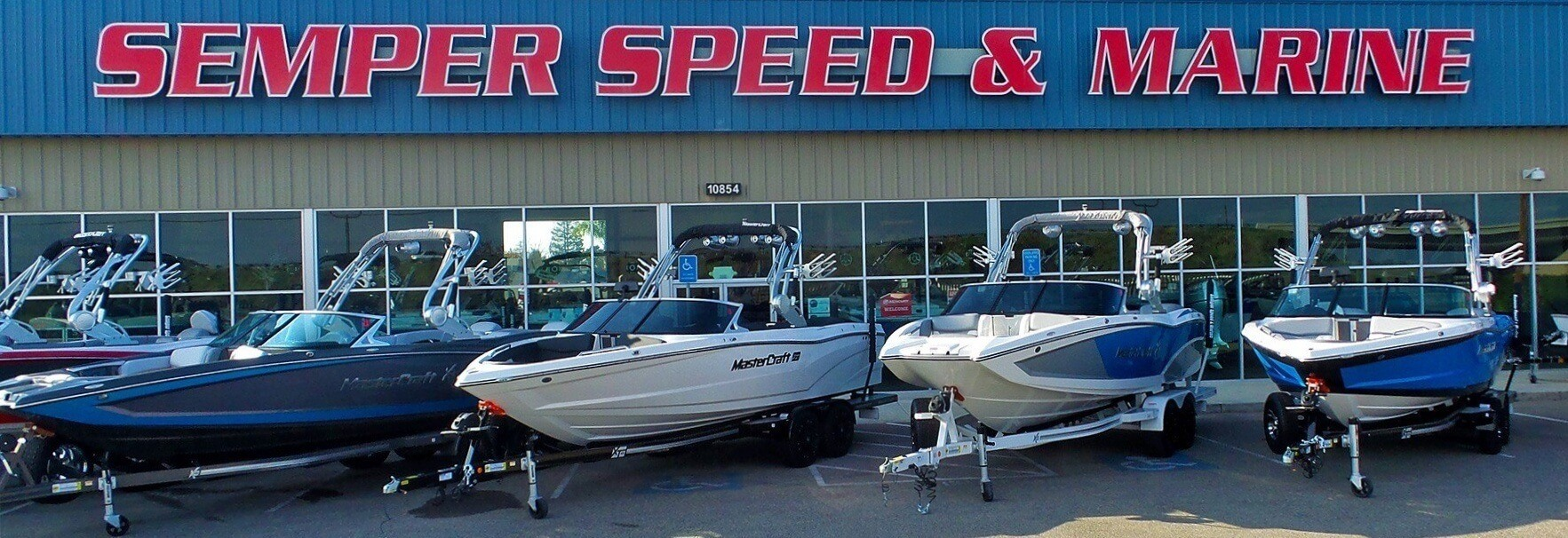 WE FIX BOATS BANNER SIGN outboard sterndrive repairs marine electrontic